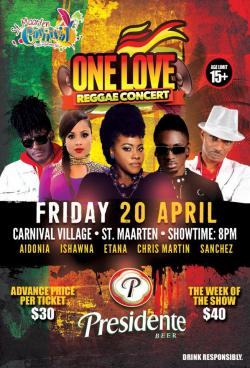 One Love Reggae Concert will 'Move and Groove' for Carnival