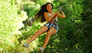 Girl-on-Zip-Line